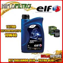KIT TAGLIANDO 1LT OLIO ELF CITY 10W40 GILERA 125 DNA 125CC 2001-2003 + FILTRO OLIO HF183