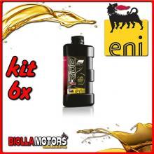 KIT 6X LITRO OLIO ENI I-RIDE RACING 5W40 TOP SYNTHETIC - 6x E528991