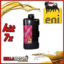 KIT 7X LITRO OLIO ENI FORK OIL 15W FORCELLA - 7x E142891