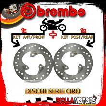 BRDISC-3 KIT DISCHI FRENO BREMBO APRILIA RALLY 1997- 50CC [ANTERIORE+POSTERIORE] [FISSO/FISSO]
