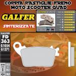 .FD363G1371 PASTIGLIE FRENO GALFER SINTERIZZATE POSTERIORI HONDA CBR 1000 RR FIREBLADE C-ABS 09-