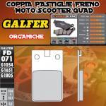 FD071G1054 PASTIGLIE FRENO GALFER ORGANICHE ANTERIORI S.W.M. MJ 329 86-