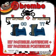 BRPADS-1487 KIT PASTIGLIE FRENO BREMBO BUELL RS 1993- 1200CC [CC+TT] ANT + POST