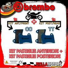 BRPADS-1651 KIT PASTIGLIE FRENO BREMBO HM CR SUPERMOTARD 2004- 125CC [CC+TT] ANT + POST