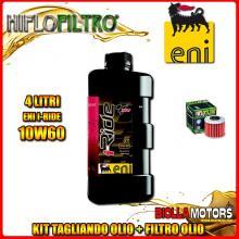 KIT TAGLIANDO 4LT OLIO ENI I-RIDE 10W60 TOP SYNTHETIC HONDA SXS1000 Pioneer 1000 M3 2nd Oil 1000CC 2016- + FILTRO OLIO HF117