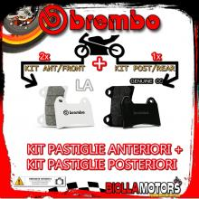 BRPADS-54740 KIT PASTIGLIE FRENO BREMBO BENELLI LEONCINO 2016- 500CC [LA+GENUINE] ANT + POST