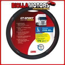 98017 LAMPA GT-SPORT, COPRIVOLANTE IN TPE - L - ? 46/48 CM - NERO/ROSSO