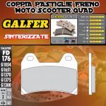 FD176G1370 PASTIGLIE FRENO GALFER SINTERIZZATE ANTERIORI SUZUKI GSX 400 IMPULSE (Japan) 99-