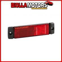 97915 LAMPA LUCE SUPPLEMENTARE A 3 LED CON CATARIFRANGENTE - 24V - ROSSO