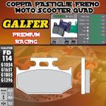 FD114G1651 PASTIGLIE FRENO GALFER PREMIUM POSTERIORI KAWASAKI KDX 200 SR 90-