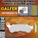 FD344G1380 PASTIGLIE FRENO GALFER SINTERIZZATE ANTERIORI SUZUKI UH 125 BURGMAN R 11-
