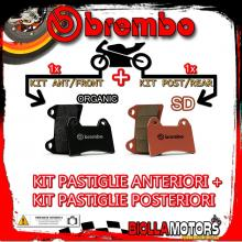 BRPADS-28090 KIT PASTIGLIE FRENO BREMBO PETERSON HURRICANE 1995- 50CC [ORGANIC+SD] ANT + POST