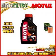 KIT TAGLIANDO 4LT OLIO MOTUL 7100 10W40 APRILIA RSV 1000 Mille 1000CC 1999-2004 + FILTRO OLIO HF152
