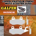 FD145G1054 PASTIGLIE FRENO GALFER ORGANICHE ANTERIORI SYM XS 125 K 07-