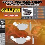 FD177G1054 PASTIGLIE FRENO GALFER ORGANICHE ANTERIORI SUZUKI TR 50 STREET MAGIC 98-