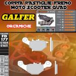 FD177G1054 PASTIGLIE FRENO GALFER ORGANICHE ANTERIORI KAWASAKI EPSILON 150 03-