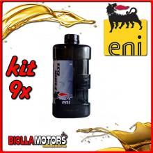 KIT 9X LITRO OLIO ENI FORK OIL 5W FORCELLA - 9x E142591