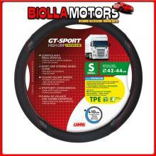 98015 LAMPA GT-SPORT, COPRIVOLANTE IN TPE - S - ? 42/44 CM - NERO/ROSSO