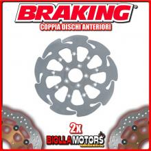 HD05FLD+HD09FLD COPPIA DISCHI FRENO ANTERIORE DX + SX BRAKING HARLEY D. FLHR/I ROAD KING 1450cc 2000-2007 WAVE FLOTTANTE