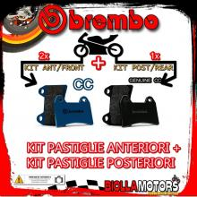 BRPADS-51062 KIT PASTIGLIE FRENO BREMBO NORTON COMMANDER 1990- 0CC [CC+GENUINE] ANT + POST