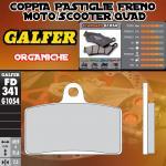 FD341G1054 PASTIGLIE FRENO GALFER ORGANICHE ANTERIORI PEUGEOT XR 7 08-09