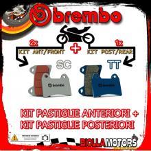 BRPADS-6409 KIT PASTIGLIE FRENO BREMBO SYM MAXSYM 2011- 400CC [SC+TT] ANT + POST