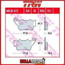 MCB672SI PASTIGLIE FRENO POSTERIORE TRW Aprilia 650 Pegaso Factory 2007-2010 [ORGANICA- ]