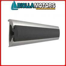 3833556 GIUNTO PROFILI ALU 56 BLACK Bottazzo Profilo Parabordo con Supporto in Alluminio Anodizzato