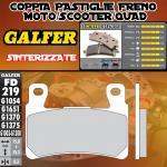 FD219G1370 PASTIGLIE FRENO GALFER SINTERIZZATE ANTERIORI HONDA CB 1300 SUPER BOL D'OR / ABS 05-
