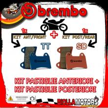 BRPADS-27042 KIT PASTIGLIE FRENO BREMBO HM CR SUPERMOTARD 2004- 125CC [TT+SD] ANT + POST