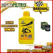 KIT TAGLIANDO 2LT OLIO BARDAHL XTS 10W50 APRILIA 125 Atlantic 125CC 2002-2014 + FILTRO OLIO HF183