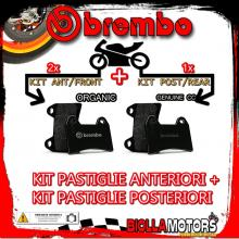 BRPADS-60389 KIT PASTIGLIE FRENO BREMBO PIAGGIO X9 right caliper 2004-2005 125CC [ORGANIC+GENUINE] ANT + POST
