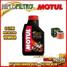 KIT TAGLIANDO 3LT OLIO MOTUL 7100 10W60 APRILIA 350 ETX 350CC 1985-1989 + FILTRO OLIO HF151