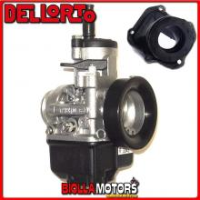 BR-53+03343 CARBURATORE DELLORTO PHBH 30 BS + COLLETTORE INCLINATO ROTAX 122