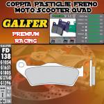 FD138G1651 PASTIGLIE FRENO GALFER PREMIUM ANTERIORI PEUGEOT METROPOLIS 400i 12-