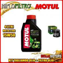 KIT TAGLIANDO 4LT OLIO MOTUL 5100 15W50 APRILIA RSV 1000 RSV4 R 1000CC 2009-2011 + FILTRO OLIO HF138