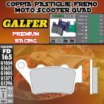 FD165G1651 PASTIGLIE FRENO GALFER PREMIUM POSTERIORI HONDA NX 650 DOMINATOR 97-