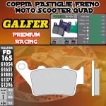 FD165G1651 PASTIGLIE FRENO GALFER PREMIUM POSTERIORI GILERA GP 850 CORSA 09-