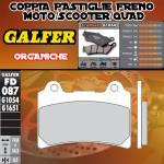FD087G1054 PASTIGLIE FRENO GALFER ORGANICHE ANTERIORI HM DERAPAGE 4T 11-