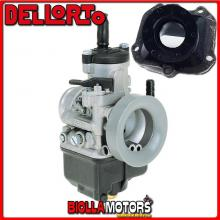 BR-61+03302 CARBURATORE DELLORTO PHBH 28 BS + COLLETTORE DRITTO ROTAX 122