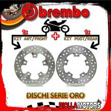 BRDISC-1511 KIT DISCHI FRENO BREMBO KYMCO LIKE 2009- 125CC [ANTERIORE+POSTERIORE] [FISSO/FISSO]