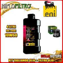 KIT TAGLIANDO 4LT OLIO ENI I-RIDE 10W60 TOP SYNTHETIC APRILIA RSV 1000 RSV4 R 1000CC 2009-2011 + FILTRO OLIO HF138
