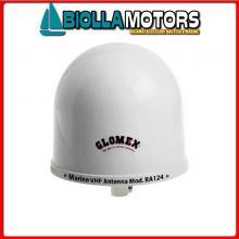 5637057 ANTENNA VHF GLOMEX RA124 Antenna VHF RA124 Compact Dome