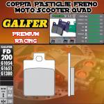 FD200G1651 PASTIGLIE FRENO GALFER PREMIUM POSTERIORI PEUGEOT SATELIS 250 CITY 06-