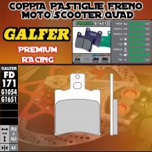 FD171G1651 PASTIGLIE FRENO GALFER PREMIUM ANTERIORI HYOSUNG GRAND PRIX 125 98-