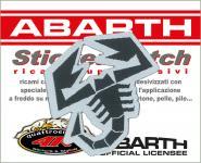 21562 ADESIVO ABARTH STICKERS PATCH SCORPIONE SAGOMATO 45 X 45 MM