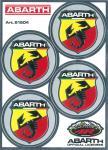 21504 ADESIVO ABARTH RACING TABS 94X131 MM 4 SCUDETTI D.48