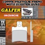 FD171G1054 PASTIGLIE FRENO GALFER ORGANICHE ANTERIORI APRILIA SR 50 EUROPA, URBAND KID, VIPER 94-94
