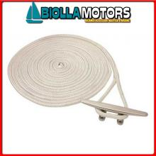 3101488 DOCK LINE WHITE 24MM X 15M< Treccia Mooring Bianco con Gassa
