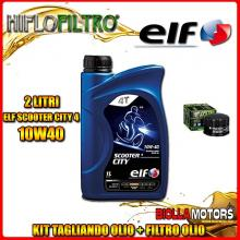 KIT TAGLIANDO 2LT OLIO ELF CITY 10W40 GILERA 500 Fuoco / LT 500CC 2007-2015 + FILTRO OLIO HF184